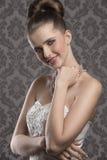 elegancka uśmiechnięta kobieta zdjęcie stock