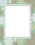 Elegancka wektor rama z dekoracyjnymi kwiatami Obrazy Stock