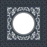 Elegancka wektor rama z klasycznym ornamentem Zdjęcia Stock