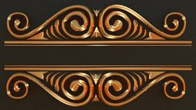 Elegancka złoto rama dla twój teksta Obraz Stock