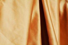Elegancka złota tkanina Obrazy Royalty Free