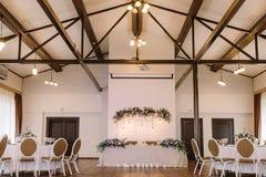 Elegancki ślubu stół, tło i Obraz Royalty Free