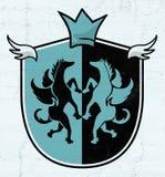 Elegancki średniowieczny królewiątko emblemat Zdjęcie Royalty Free