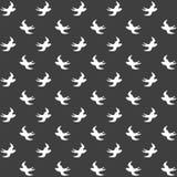 Elegancki abstrakcjonistyczny bezszwowy wzór z czarną graficzną dymówką Zdjęcia Royalty Free