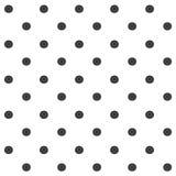 Elegancki abstrakcjonistyczny bezszwowy wzór z czarną graficzną polki kropką Zdjęcia Royalty Free