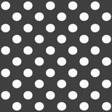 Elegancki abstrakcjonistyczny bezszwowy wzór z czarną graficzną polki kropką Obrazy Royalty Free