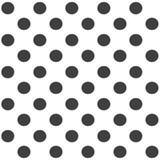 Elegancki abstrakcjonistyczny bezszwowy wzór z czarną graficzną polki kropką Obraz Stock