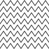 Elegancki abstrakcjonistyczny bezszwowy wzór z czarnym grafika zygzag Zdjęcie Stock