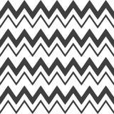 Elegancki abstrakcjonistyczny bezszwowy wzór z czarnym grafika zygzag Fotografia Royalty Free