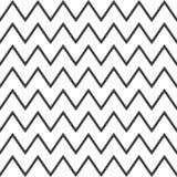 Elegancki abstrakcjonistyczny bezszwowy wzór z czarnym grafika zygzag Obraz Royalty Free