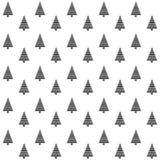 Elegancki abstrakcjonistyczny bezszwowy wzór z czarnymi graficznymi choinkami Zdjęcia Stock