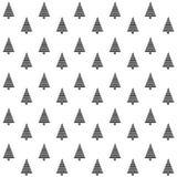 Elegancki abstrakcjonistyczny bezszwowy wzór z czarnymi graficznymi drzewami Fotografia Stock