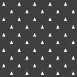 Elegancki abstrakcjonistyczny bezszwowy wzór z czarnymi graficznymi drzewami Zdjęcia Royalty Free
