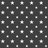 Elegancki abstrakcjonistyczny bezszwowy wzór z czarnymi graficznymi gwiazdami Obraz Stock
