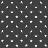 Elegancki abstrakcjonistyczny bezszwowy wzór z czarnymi graficznymi gwiazdami Obrazy Royalty Free