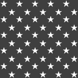 Elegancki abstrakcjonistyczny bezszwowy wzór z czarnymi graficznymi gwiazdami Obraz Royalty Free