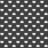 Elegancki abstrakcjonistyczny bezszwowy wzór z czarnymi graficznymi sercami Fotografia Stock