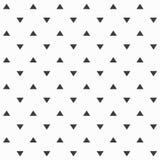 Elegancki abstrakcjonistyczny bezszwowy wzór z czarnymi graficznymi trójbokami Zdjęcia Royalty Free
