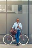 Elegancki Afro amerykanina biznesmen Zdjęcie Royalty Free