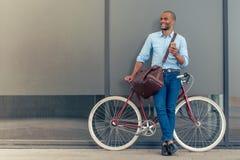 Elegancki Afro amerykanina biznesmen Fotografia Stock