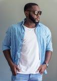 Elegancki Afro amerykanina biznesmen Fotografia Royalty Free