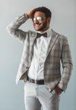 Elegancki Afro amerykanina facet Zdjęcia Stock
