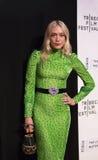 Elegancki aktora Chloe Sevignyat ` Obiadowy premiera przy 2017 Tribeca Ekranowym festiwalem Obrazy Royalty Free