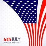 Elegancki amerykański dnia niepodległości projekt Zdjęcia Royalty Free