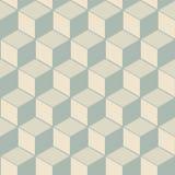 Elegancki antykwarski tło wizerunek kubiczny kreskowy geometria wzór Obrazy Royalty Free