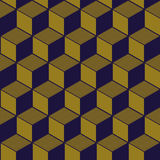 Elegancki antykwarski tło wizerunek kubiczny kreskowy geometria wzór Obraz Stock