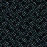 Elegancki bezszwowy deseniowy tradycyjny dachówkowy błękit ciskał linię Zdjęcia Royalty Free