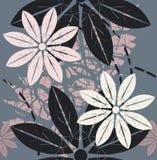 Elegancki bezszwowy wzór z pięknymi kwiatami Obrazy Stock
