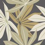 Elegancki bezszwowy wzór z tropikalnymi liśćmi Zdjęcia Stock