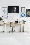 Elegancki biały miejsce pracy Zdjęcie Stock