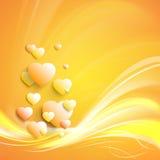 Elegancki biały serce Zdjęcie Royalty Free
