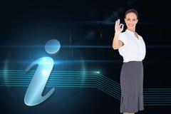 Elegancki bizneswoman pokazuje zadowalającego gest Zdjęcia Stock