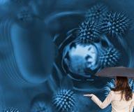 Elegancki bizneswomanu mienia parasol Zdjęcia Royalty Free