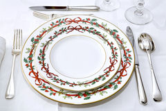 elegancki Boże Narodzenie stół Zdjęcia Royalty Free