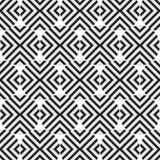 Elegancki Czarny I Biały Monochromatyczny Geometryczny grafika wzór Obrazy Stock