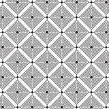 Elegancki Czarny I Biały Monochromatyczny Geometryczny grafika wzór ilustracja wektor
