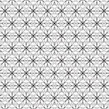 Elegancki Czarny I Biały Monochromatyczny Geometryczny grafika wzór royalty ilustracja
