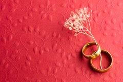 Elegancki Czerwony Zaręczynowy tło fotografia royalty free