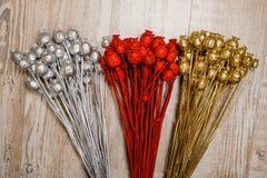 Elegancki dekoracja elementów składać się z barwione i połyskują wysuszone napy Obrazy Stock