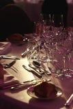 Elegancki drogi cutlery i silverware przy wesela cl Obrazy Royalty Free