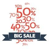 Elegancki Duży sprzedaż plakat, sztandar lub ulotka projekt z dyskontową ofertą na nowych przyjazdach, zdjęcie stock