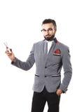 Elegancki facet reklamuje nożyce Fryzury pojęcie fotografia stock