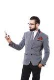 Elegancki facet reklamuje nożyce Fryzury pojęcie obrazy stock