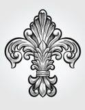 Elegancki Fleur De Lis royalty ilustracja