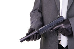 Elegancki gangsterski hitman zabójca Fotografia Stock