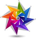 Elegancki gwiazdowy logo ilustracja wektor